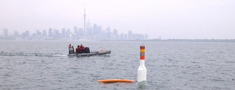 Spar Diving Marker Buoy in Toronto Save Ontario Shipwrecks