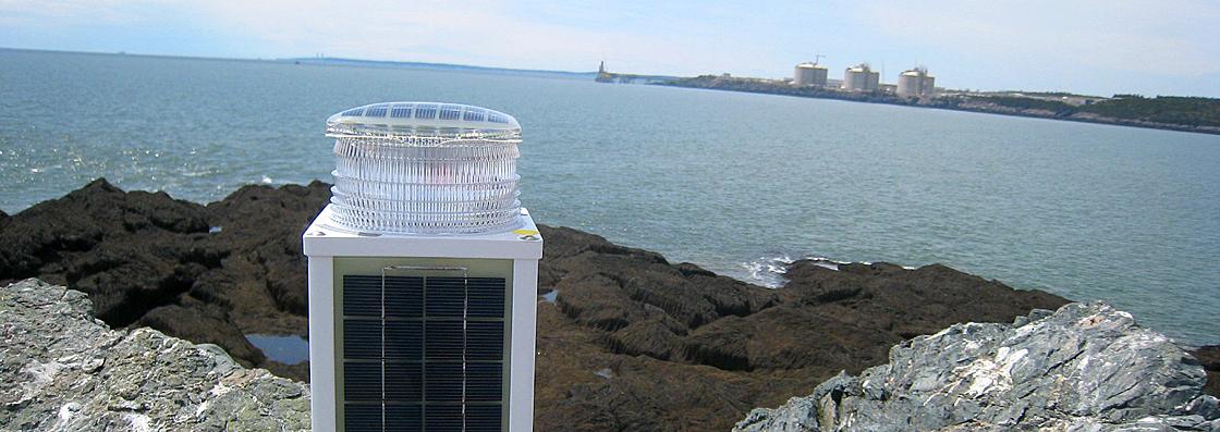 M860 Marine Aid to Navigation Lantern on Black Rock LNG Terminal