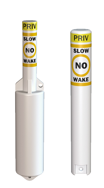 Slow No Wake Marking Information Control Buoys